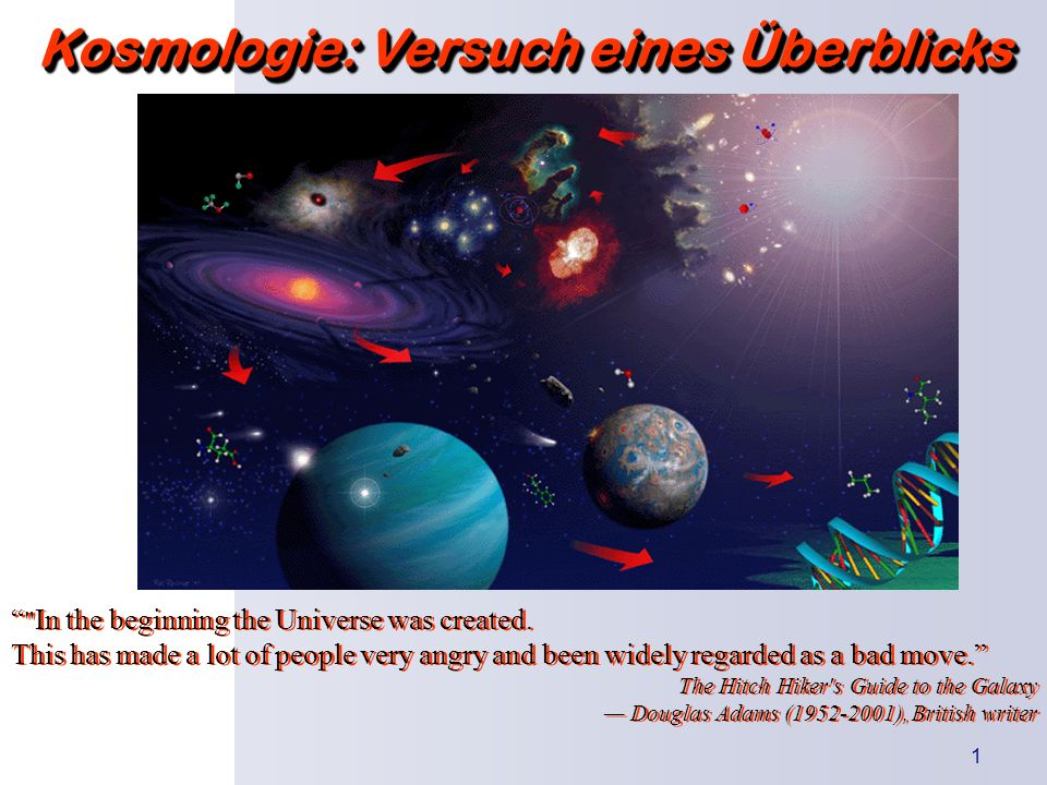 Kosmologie: Versuch eines Überblicks