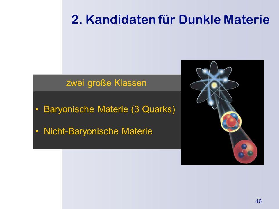 2. Kandidaten für Dunkle Materie