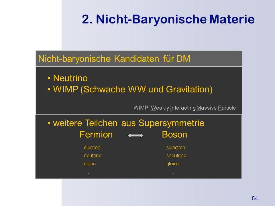 2. Nicht-Baryonische Materie