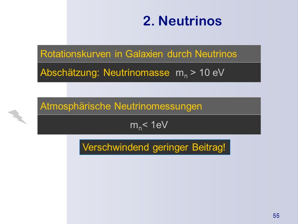 2. Neutrinos Rotationskurven in Galaxien durch Neutrinos