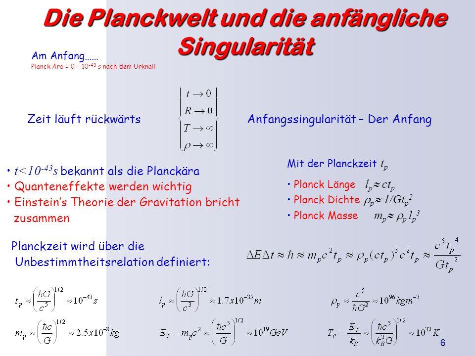 Die Planckwelt und die anfängliche Singularität