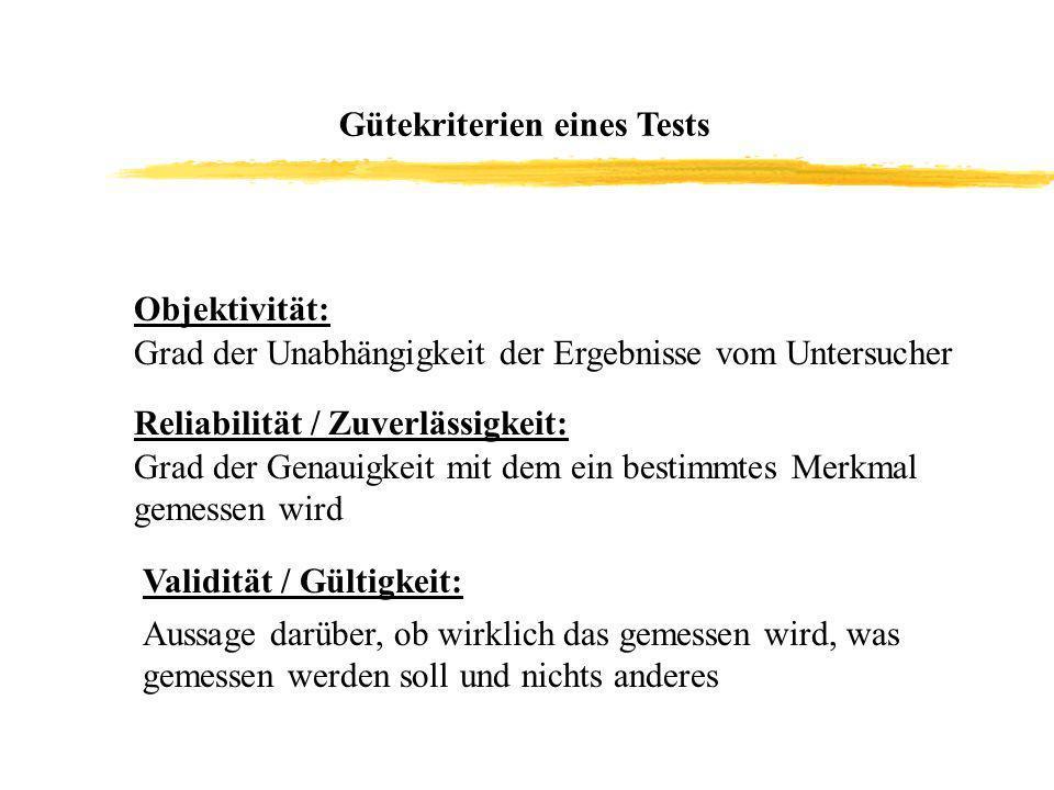 Gütekriterien eines Tests