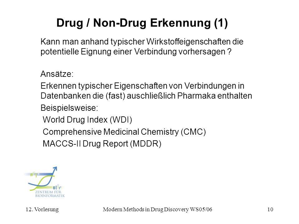 Drug / Non-Drug Erkennung (1)