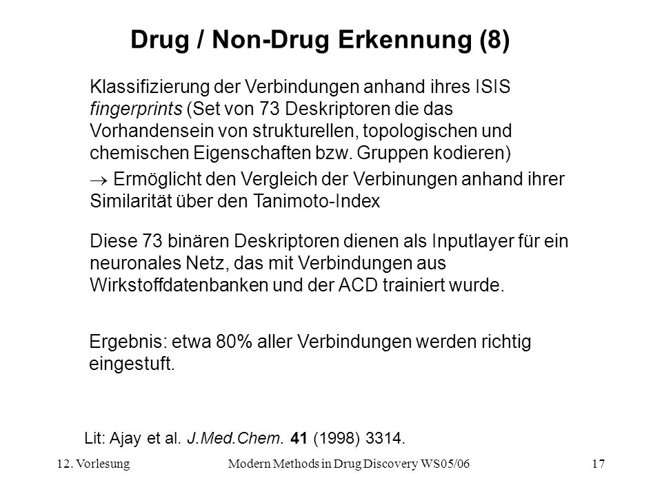 Drug / Non-Drug Erkennung (8)