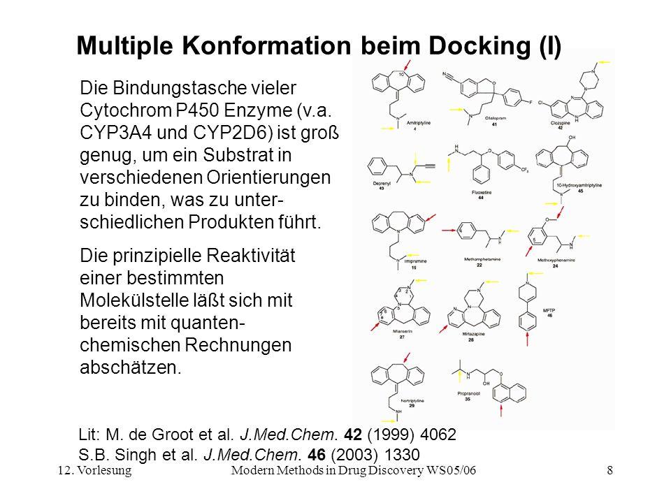 Multiple Konformation beim Docking (I)
