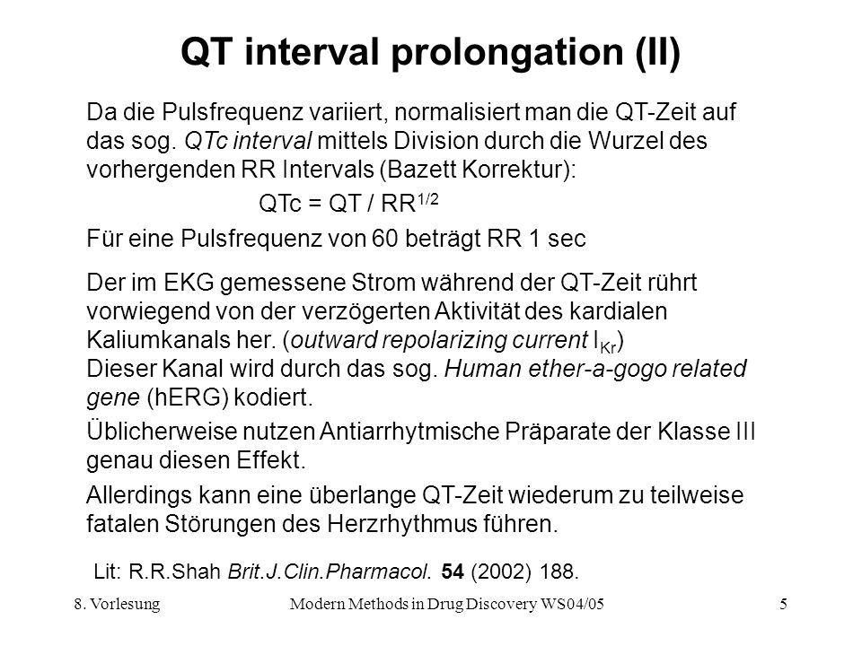 QT interval prolongation (II)