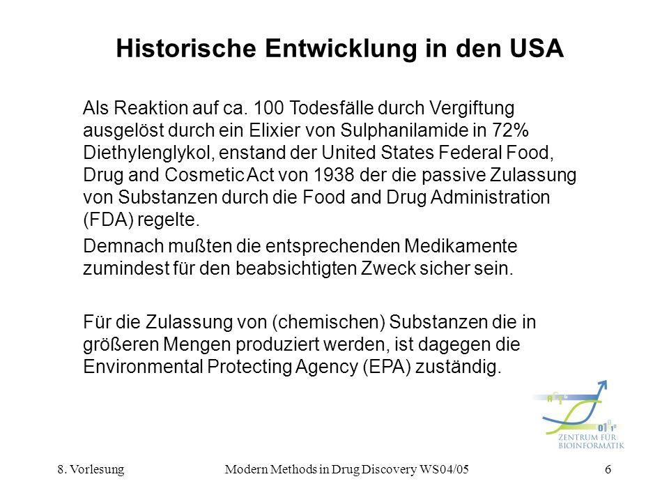 Historische Entwicklung in den USA