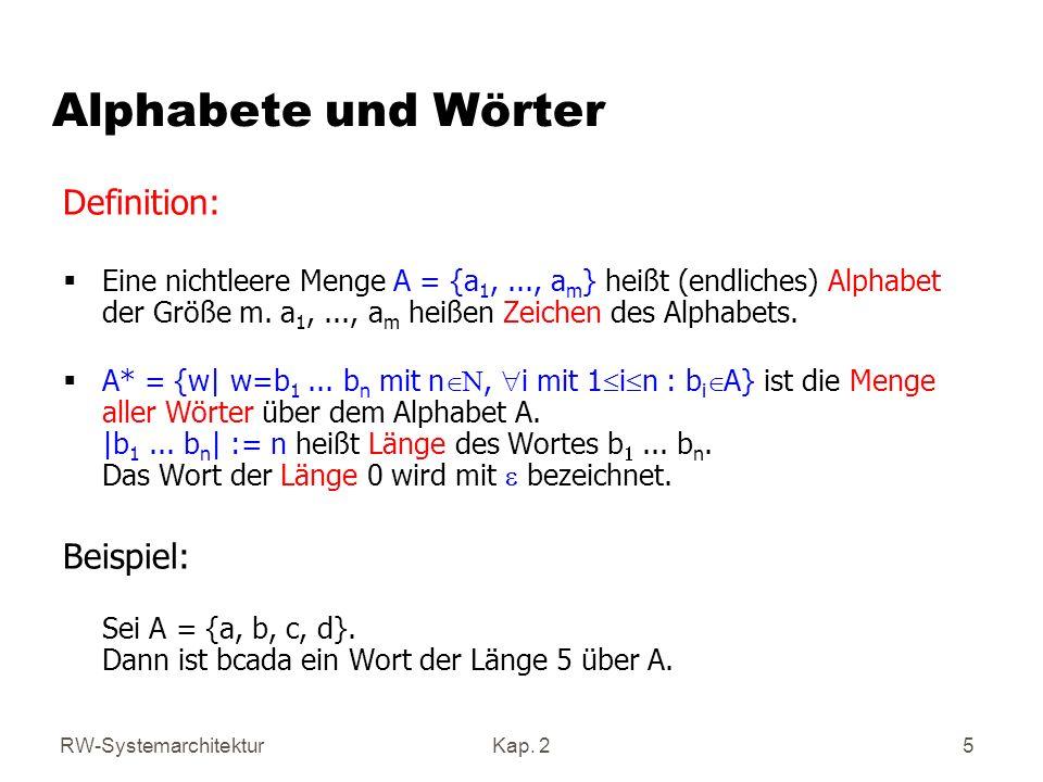 Alphabete und Wörter Definition: