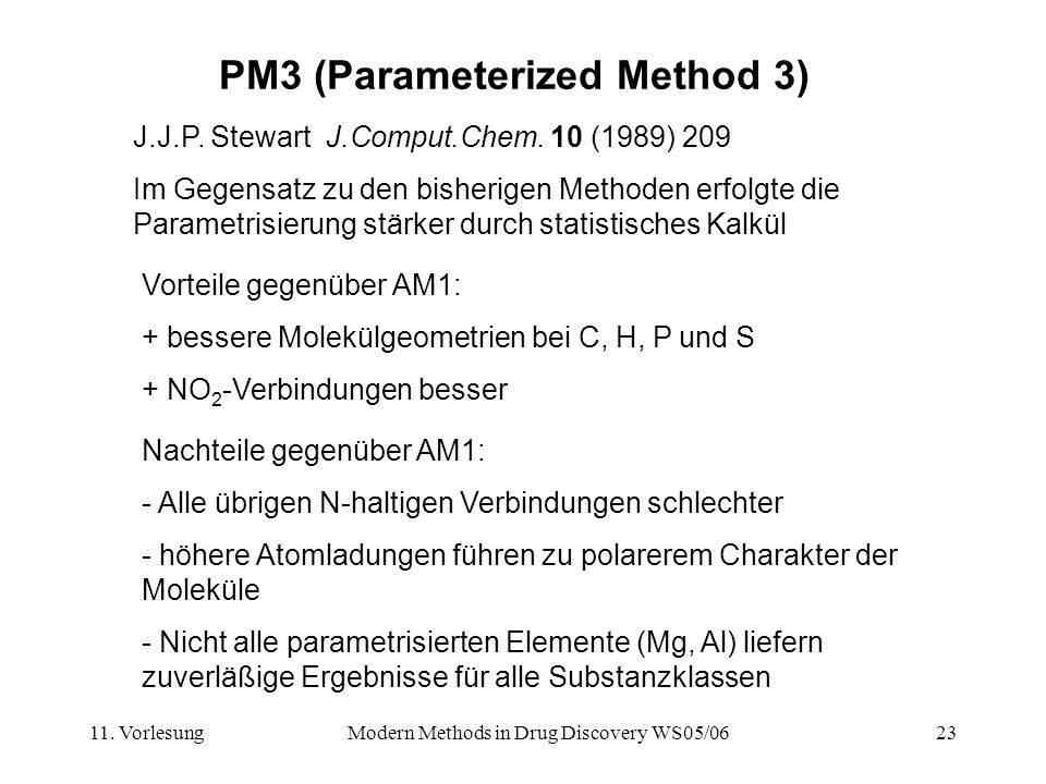 PM3 (Parameterized Method 3)