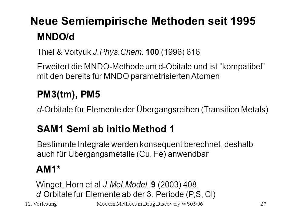 Neue Semiempirische Methoden seit 1995