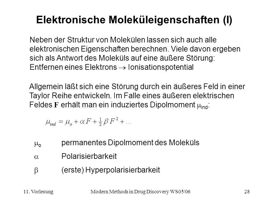 Elektronische Moleküleigenschaften (I)
