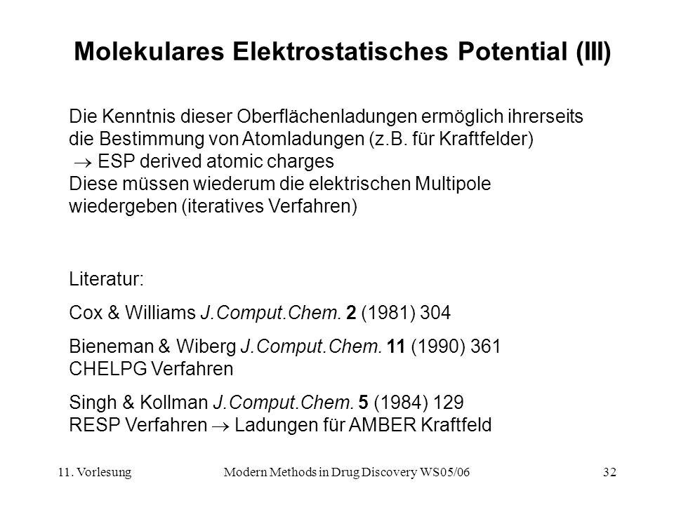 Molekulares Elektrostatisches Potential (III)