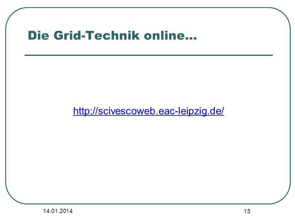 Die Grid-Technik online…