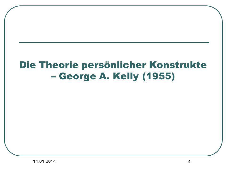 Die Theorie persönlicher Konstrukte – George A. Kelly (1955)