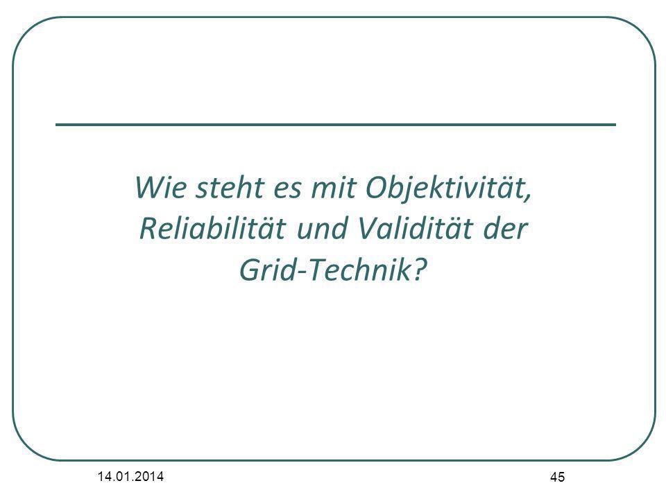 Wie steht es mit Objektivität, Reliabilität und Validität der Grid-Technik