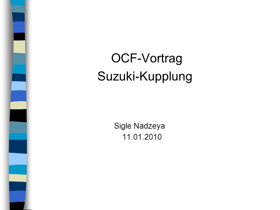 OCF-Vortrag Suzuki-Kupplung Sigle Nadzeya 11.01.2010