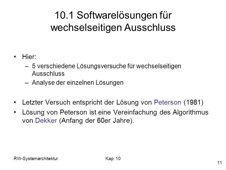 10.1 Softwarelösungen für wechselseitigen Ausschluss