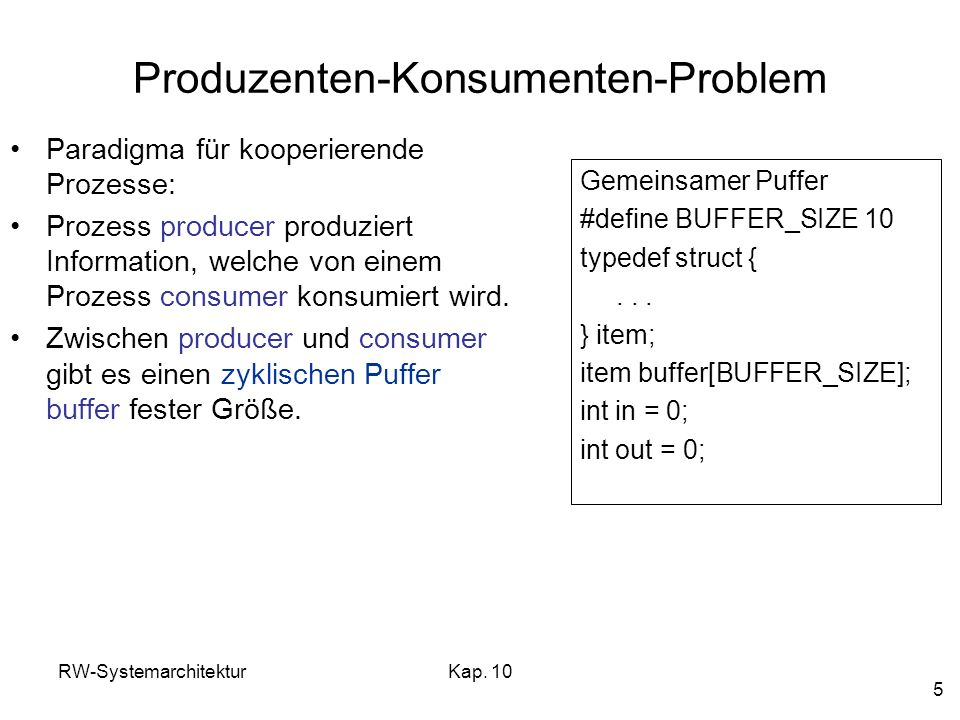 Produzenten-Konsumenten-Problem