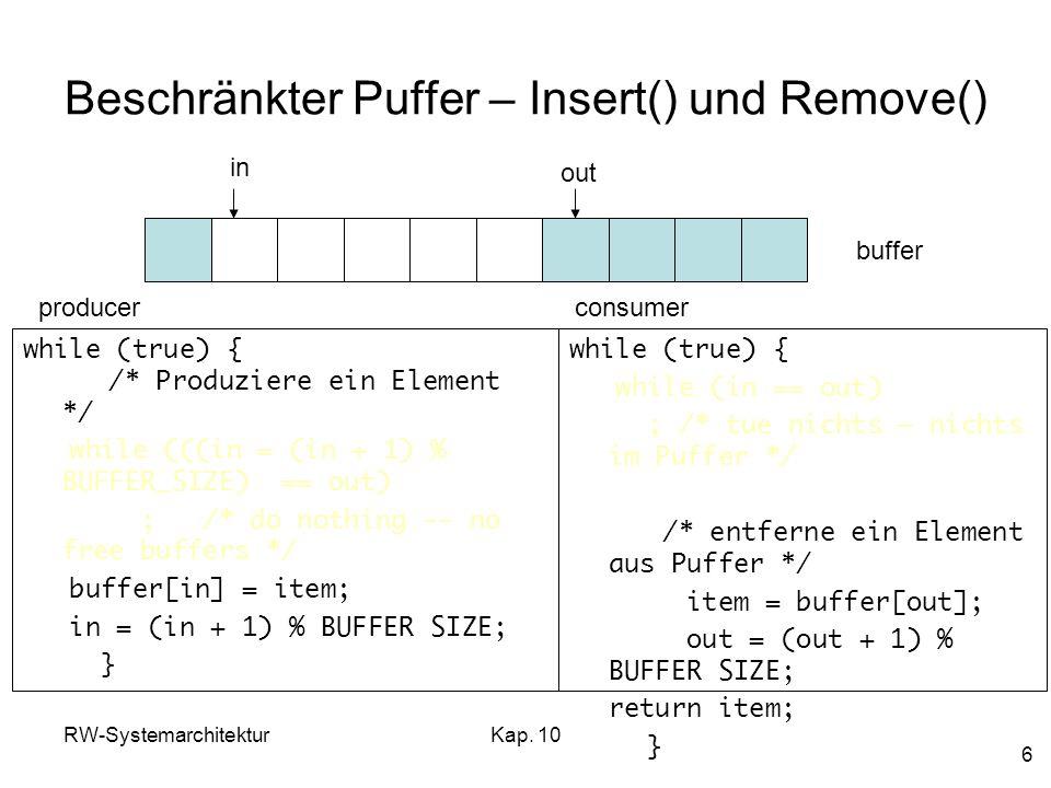 Beschränkter Puffer – Insert() und Remove()