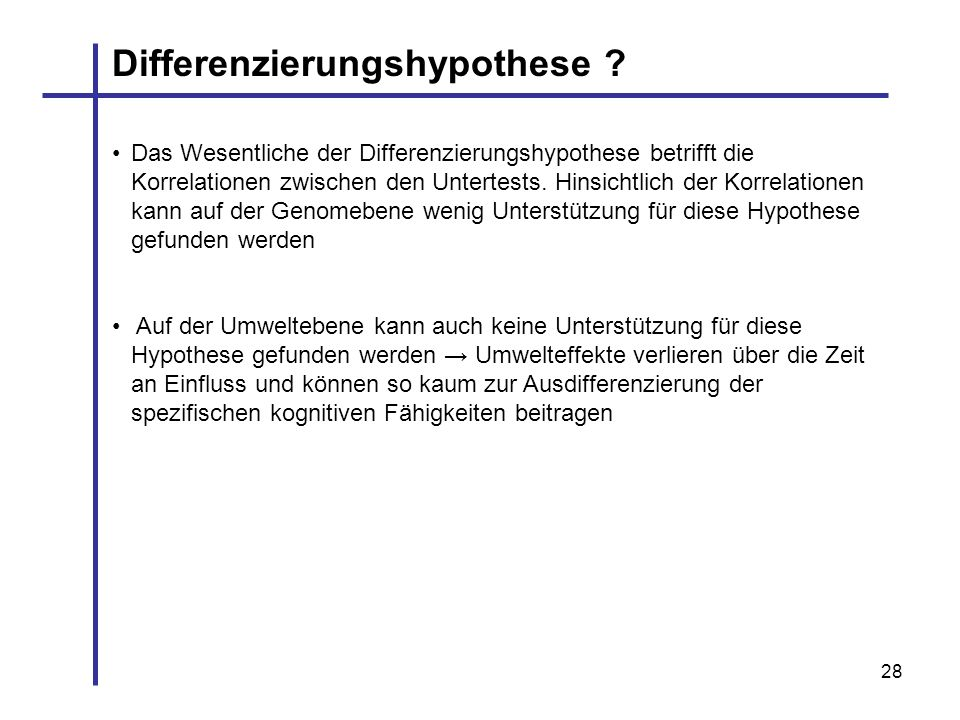 Differenzierungshypothese