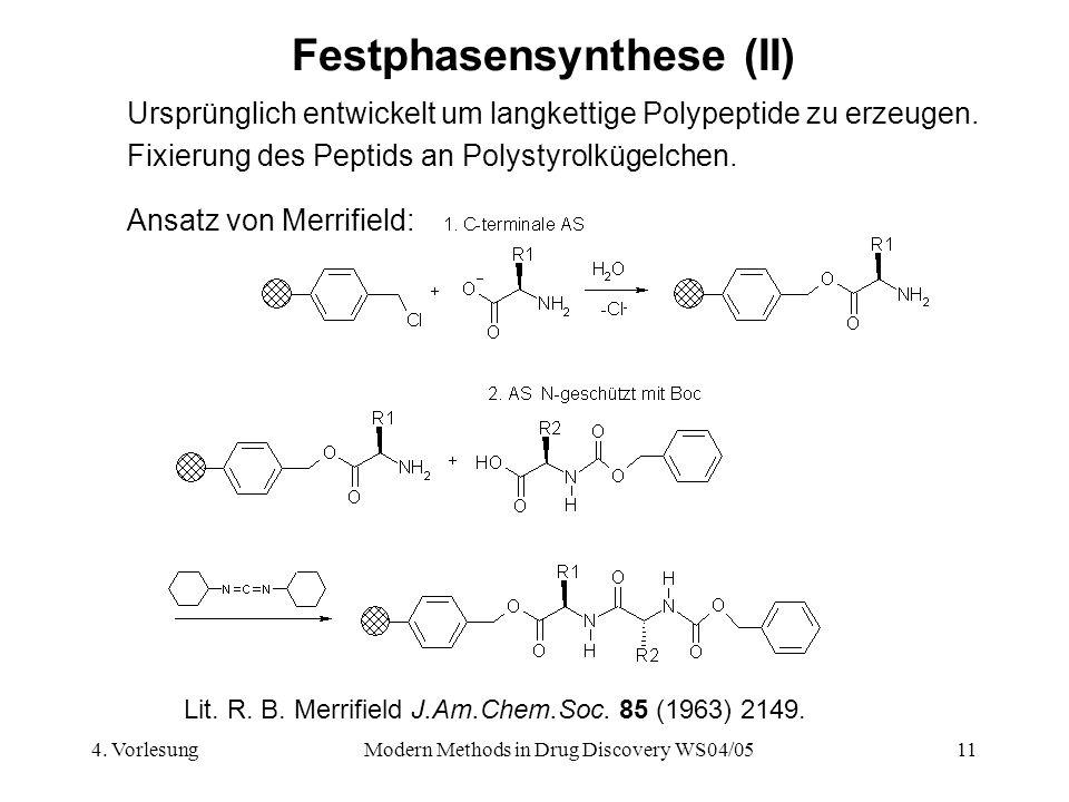 Festphasensynthese (II)