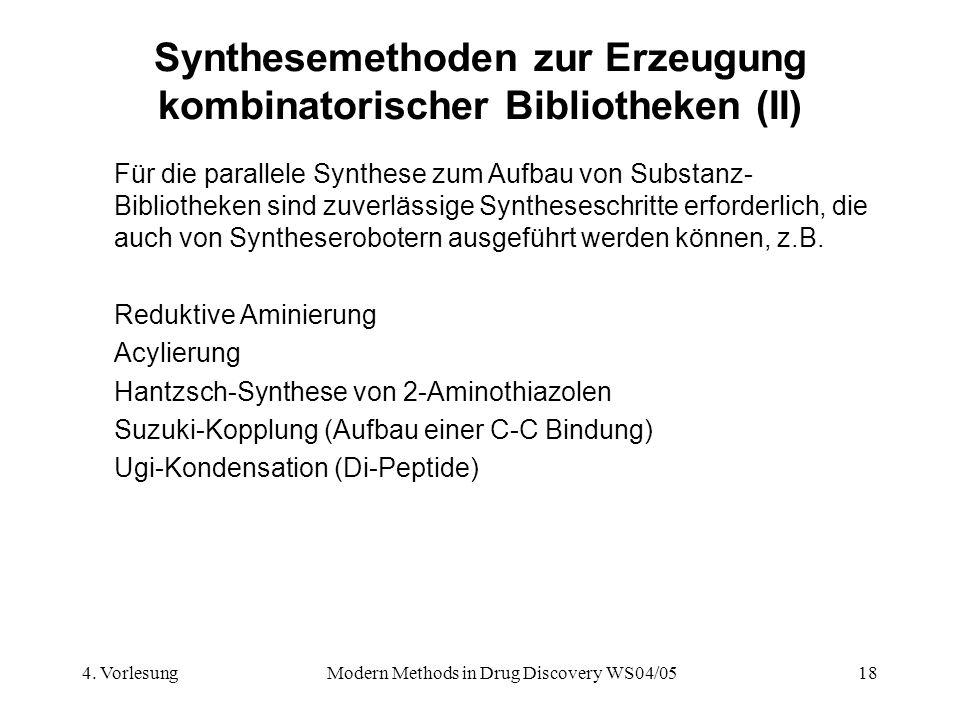 Synthesemethoden zur Erzeugung kombinatorischer Bibliotheken (II)