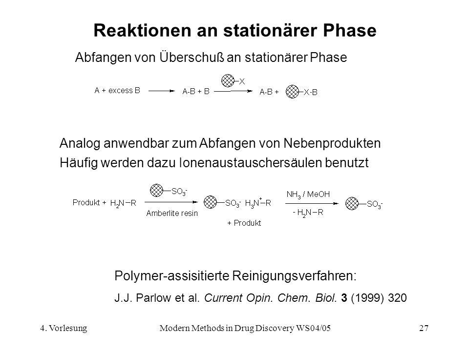 Reaktionen an stationärer Phase