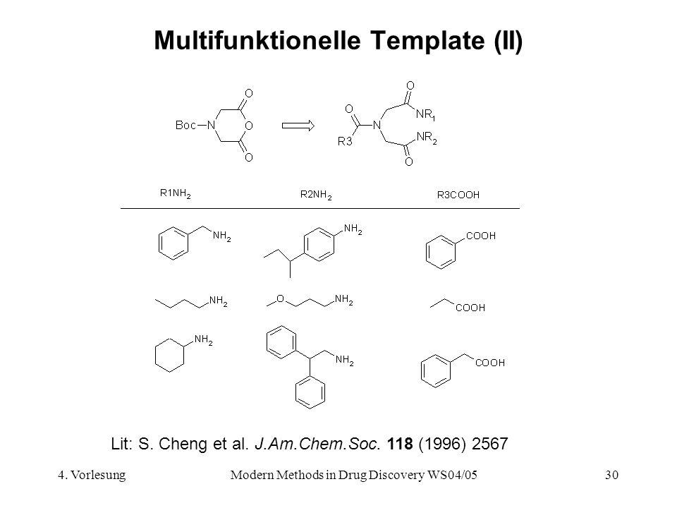 Multifunktionelle Template (II)