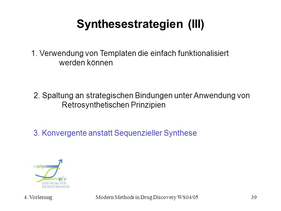 Synthesestrategien (III)