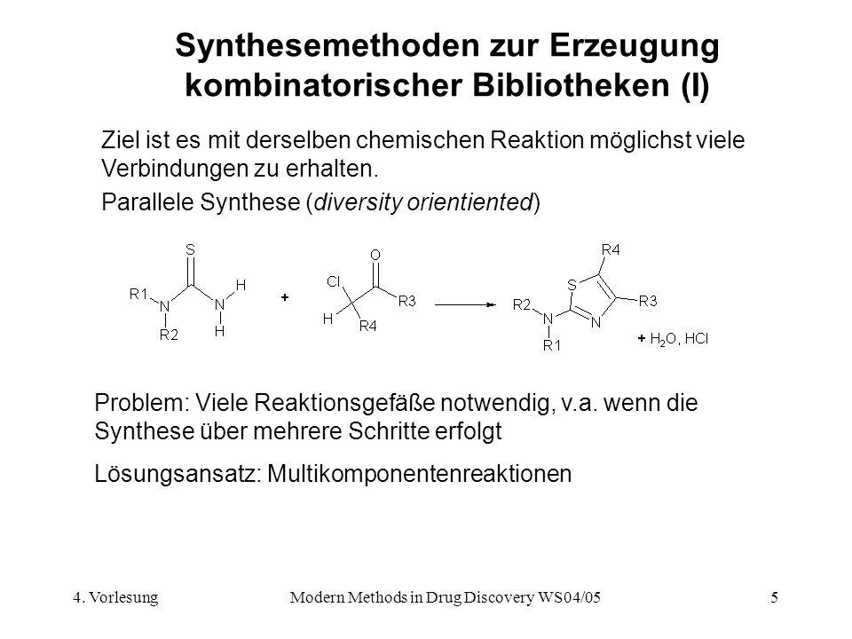 Synthesemethoden zur Erzeugung kombinatorischer Bibliotheken (I)
