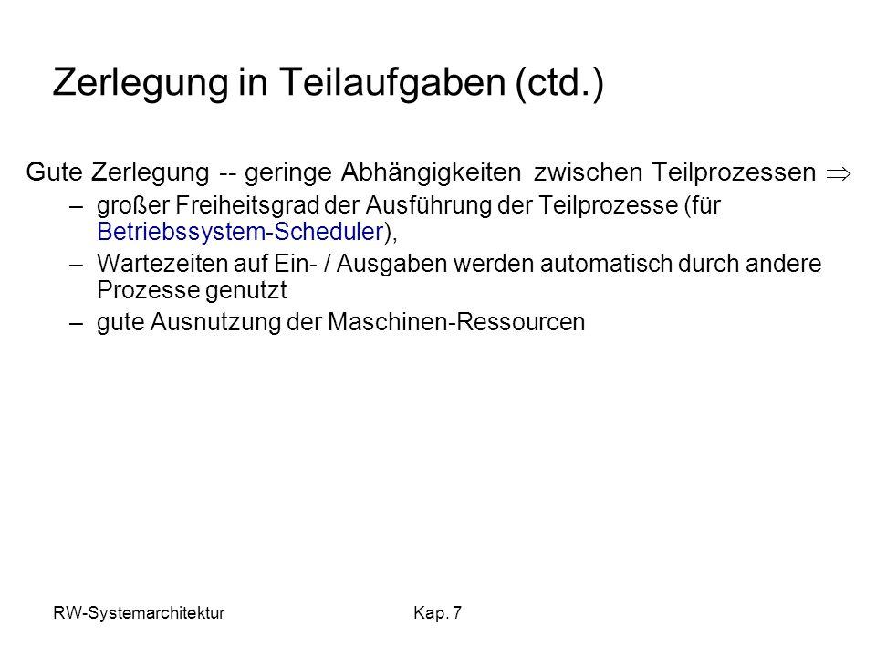 Zerlegung in Teilaufgaben (ctd.)