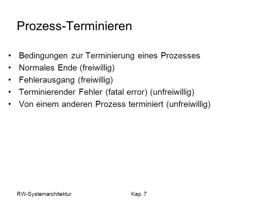 Prozess-Terminieren Bedingungen zur Terminierung eines Prozesses