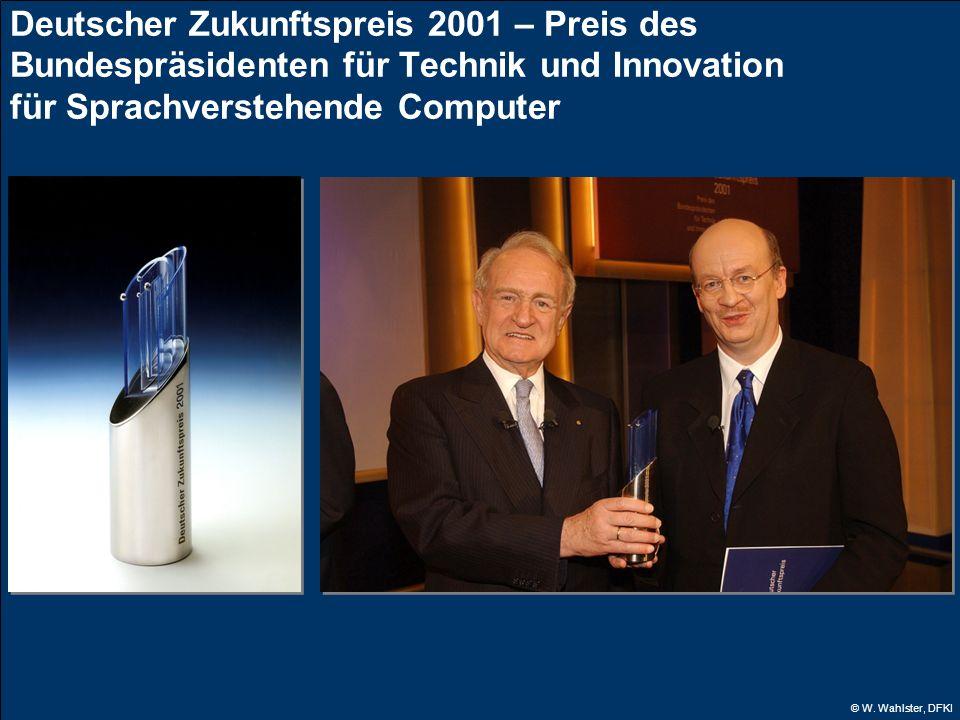 Deutscher Zukunftspreis 2001 – Preis des Bundespräsidenten für Technik und Innovation für Sprachverstehende Computer