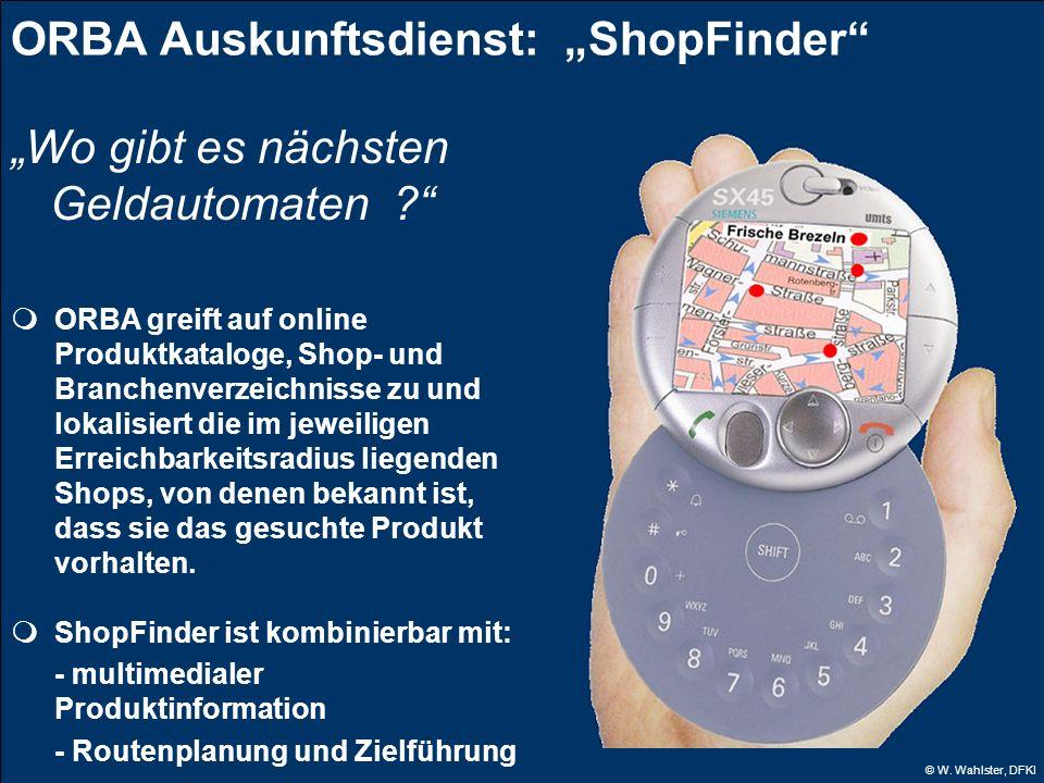 """ORBA Auskunftsdienst: """"ShopFinder"""