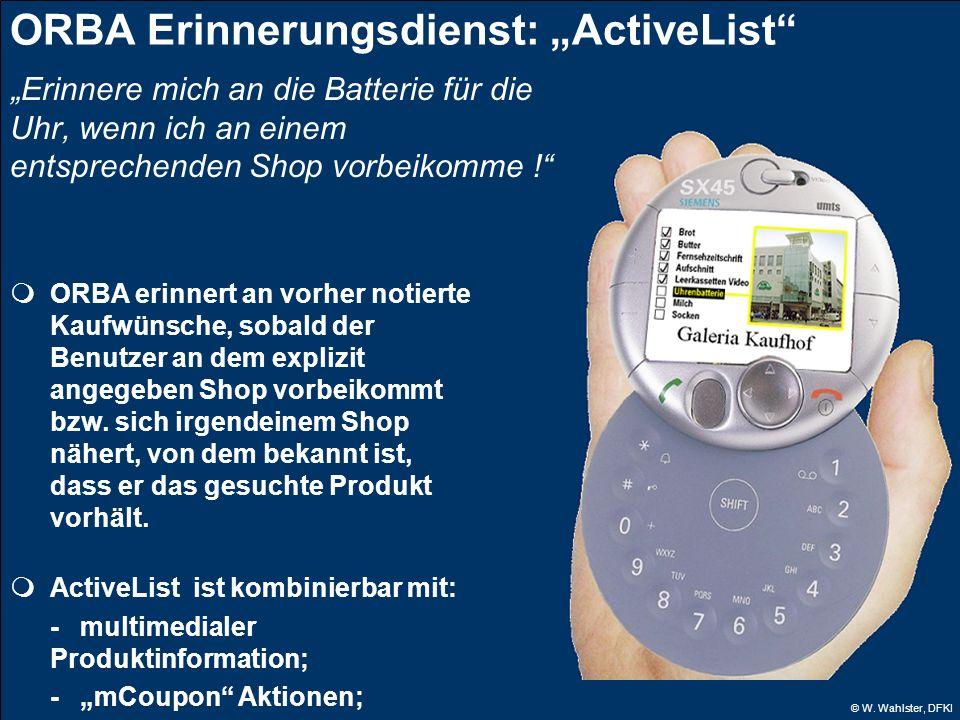 """ORBA Erinnerungsdienst: """"ActiveList"""