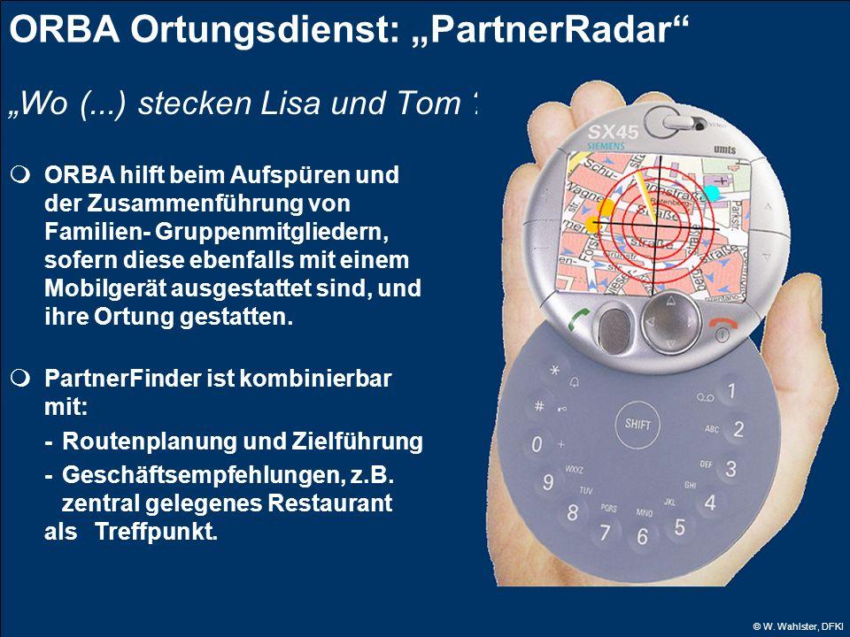 "ORBA Ortungsdienst: ""PartnerRadar"