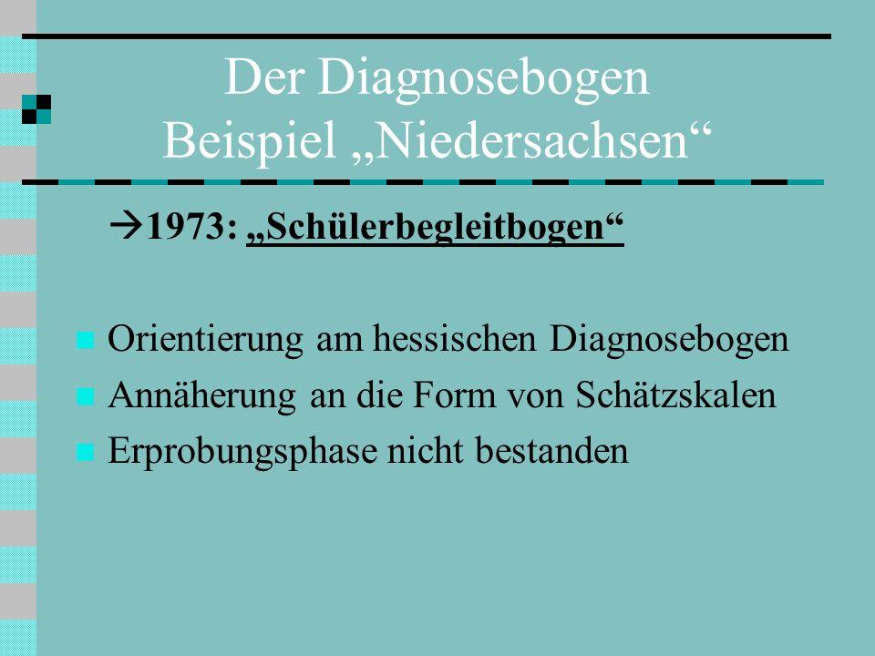 """Der Diagnosebogen Beispiel """"Niedersachsen"""