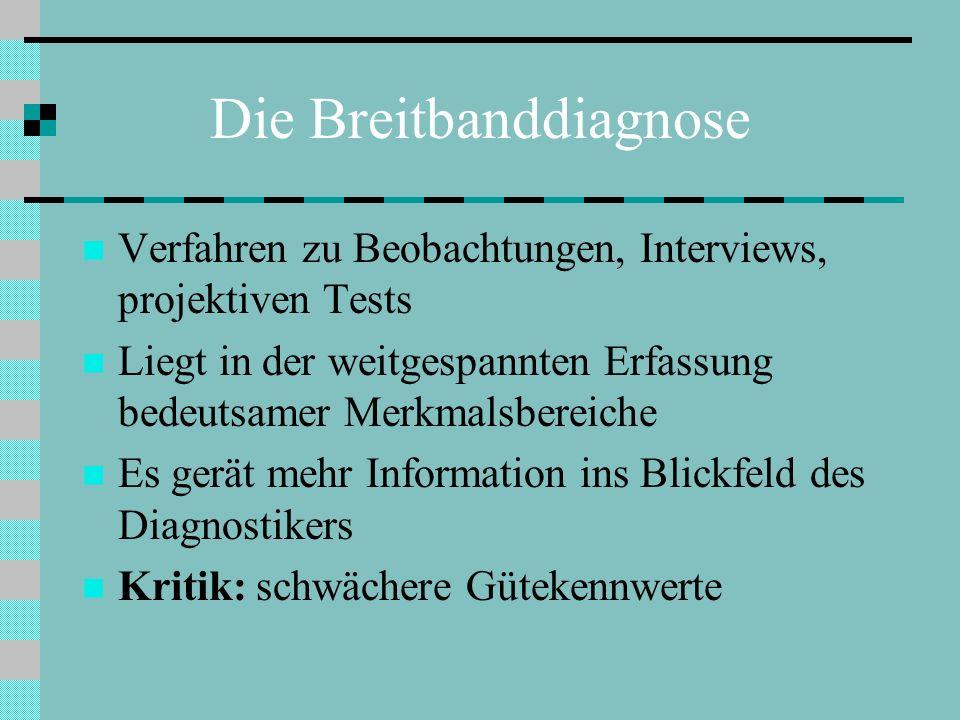 Die Breitbanddiagnose