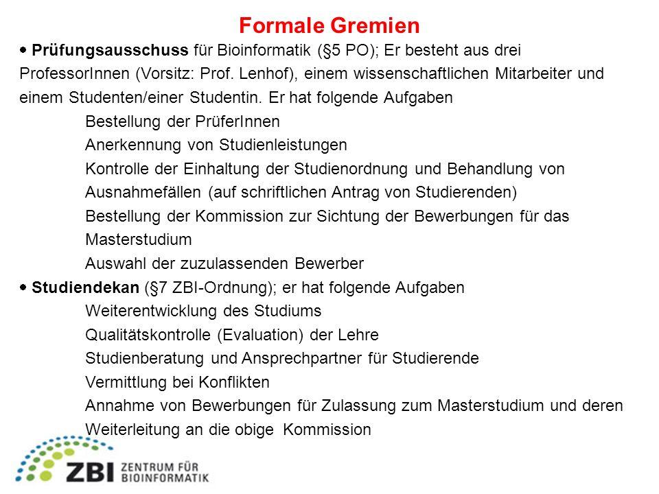 Formale Gremien