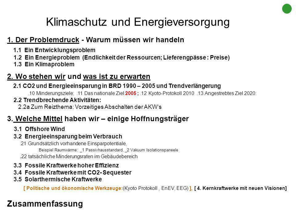 Klimaschutz und Energieversorgung