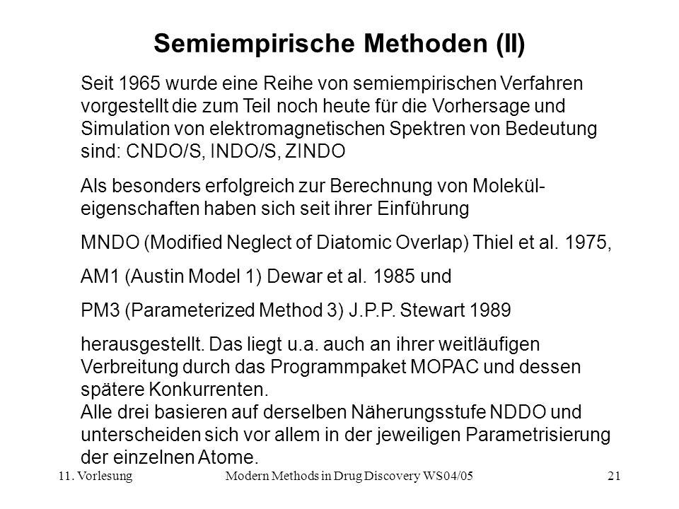 Semiempirische Methoden (II)