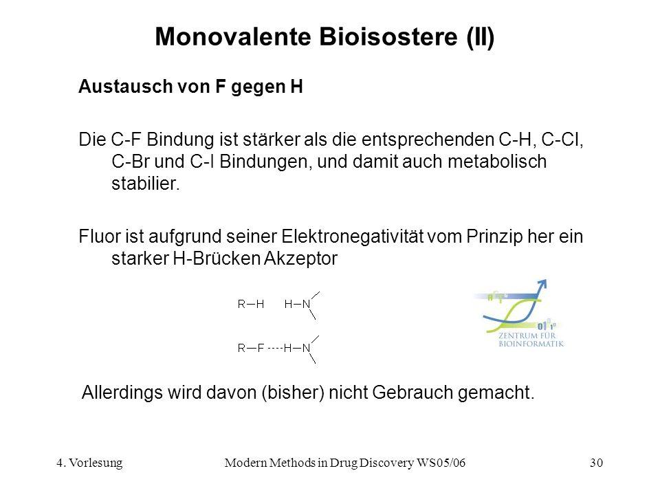 Monovalente Bioisostere (II)