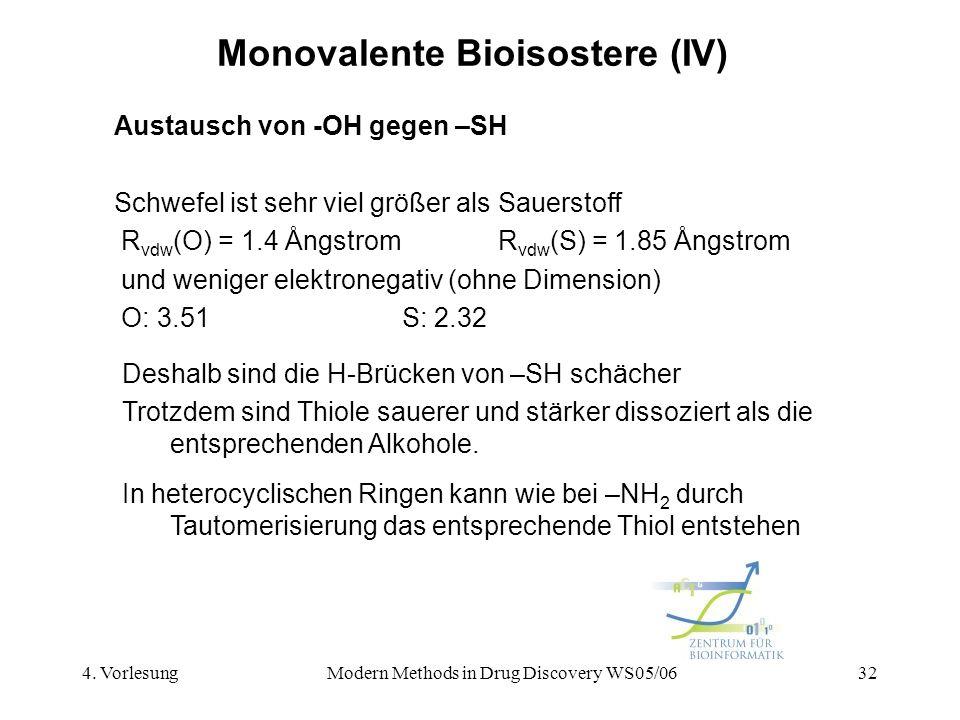 Monovalente Bioisostere (IV)