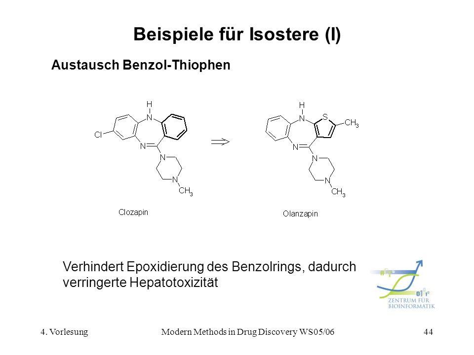 Beispiele für Isostere (I)