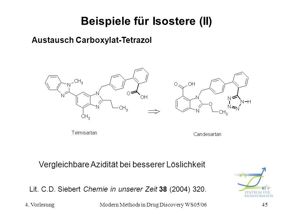 Beispiele für Isostere (II)