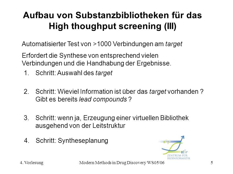 Aufbau von Substanzbibliotheken für das High thoughput screening (III)