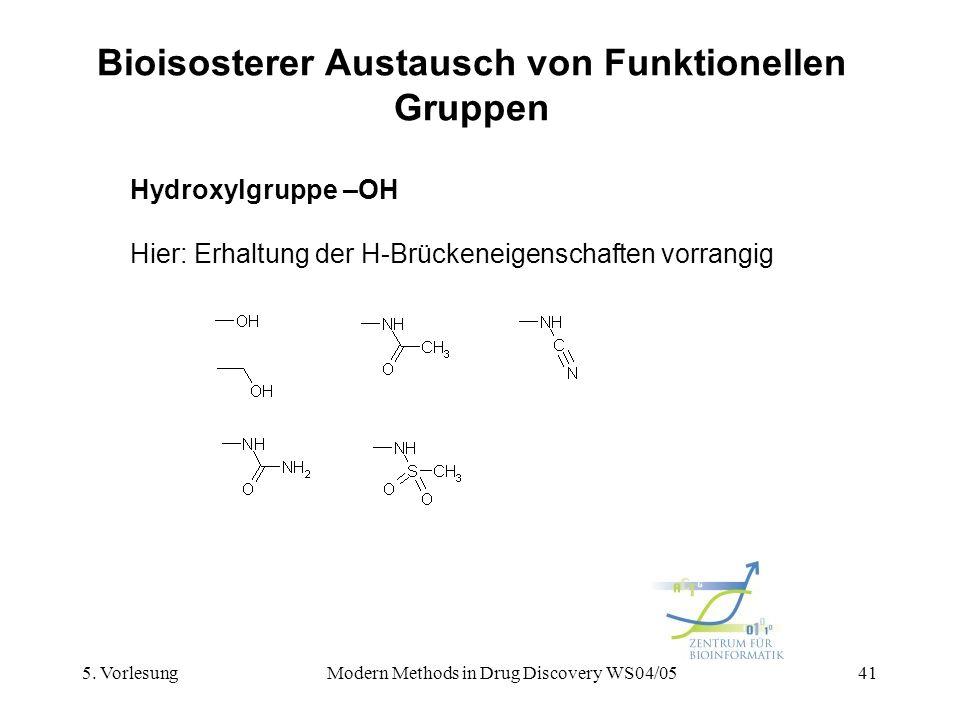Bioisosterer Austausch von Funktionellen Gruppen