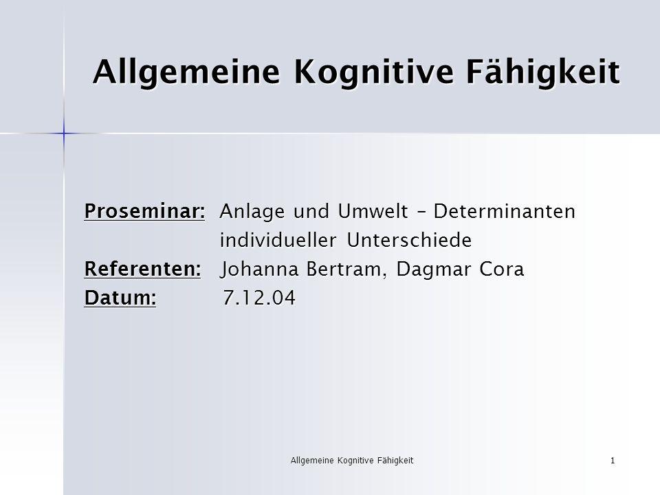 Allgemeine Kognitive Fähigkeit