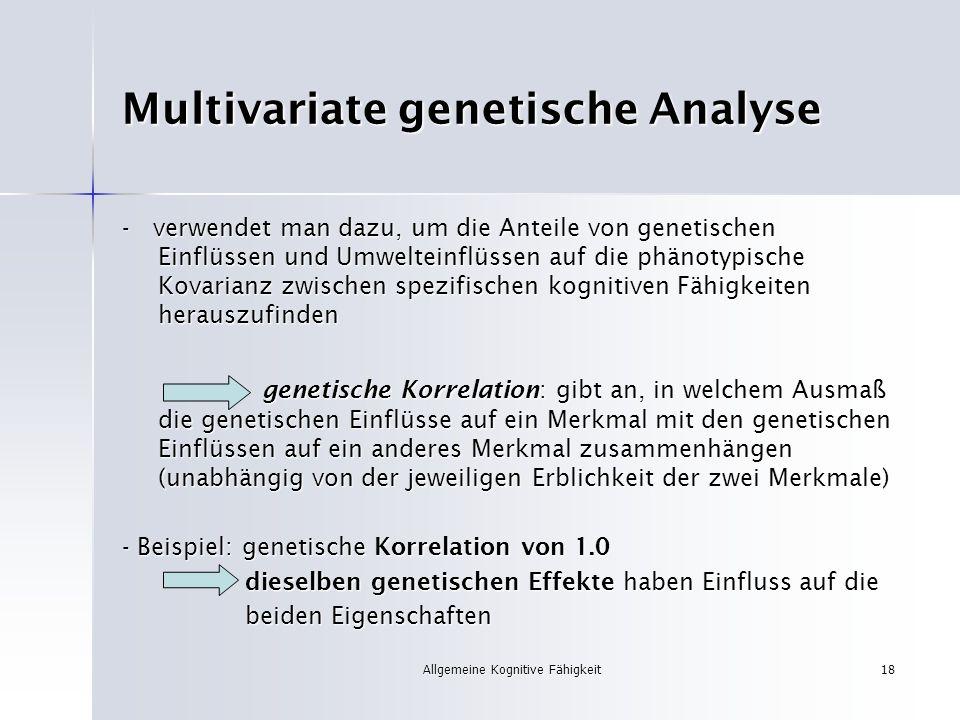 Multivariate genetische Analyse
