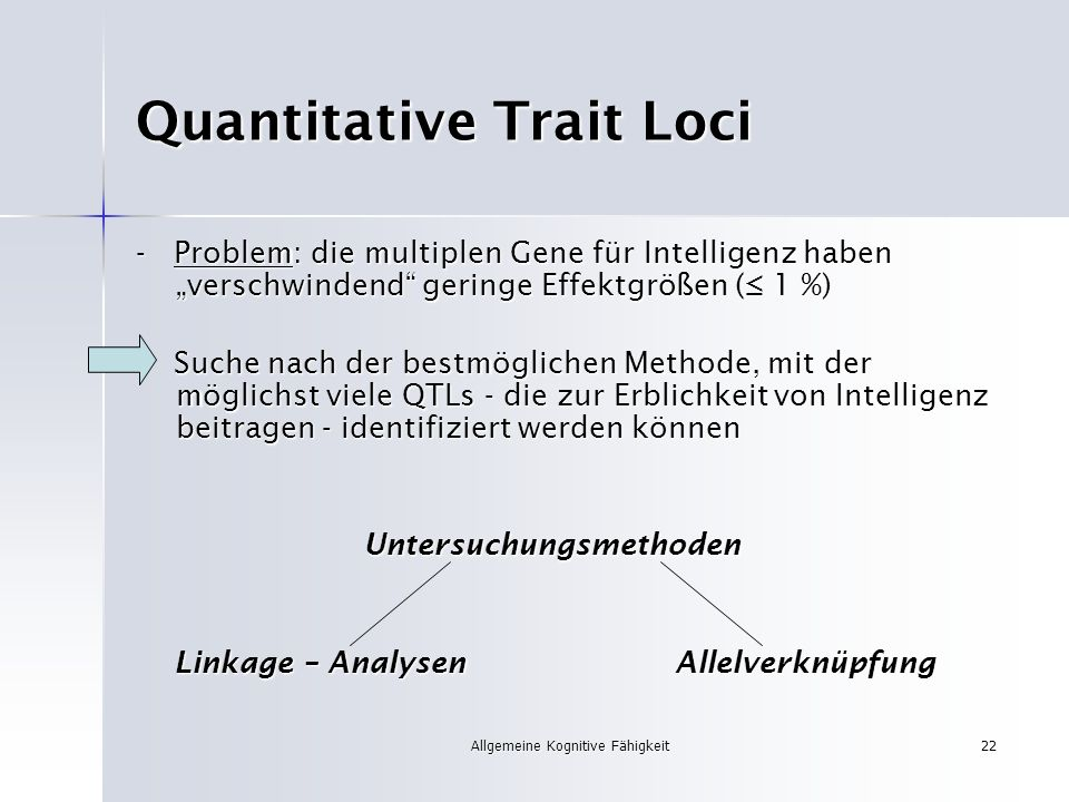 Quantitative Trait Loci